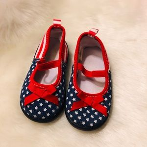 Red, White, and Blue Shoes